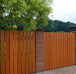 Plot z plotových desek Golden Oak