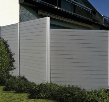 Dělící stěna z profilových desek BL6 odstín Dark Grey