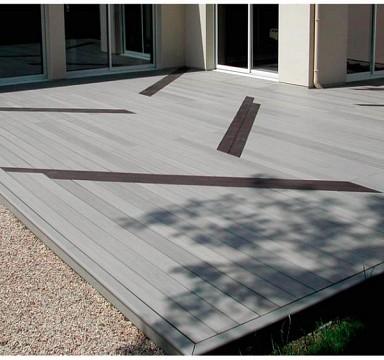 Kombinovaná terasa NOMAWOOD z dvou odstínů